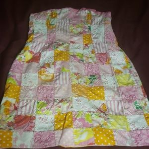 Lilly P strapless summer dress